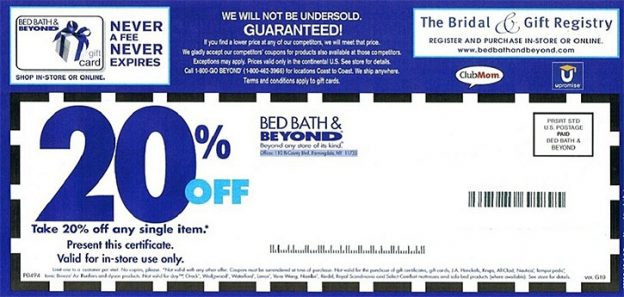 bed bath beyond flyer coupon