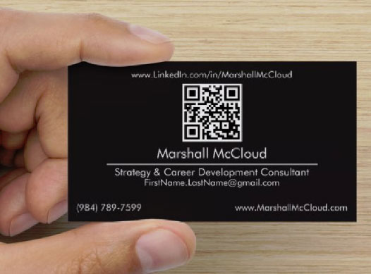 business cards linkedin vanity url