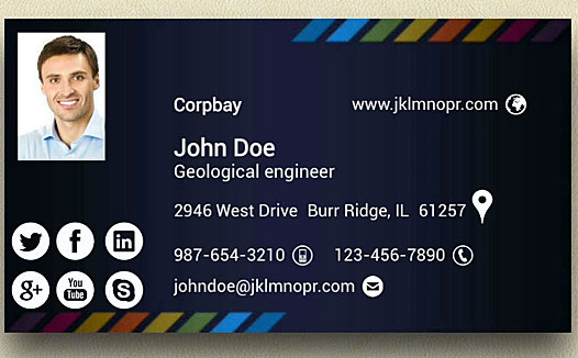business cards with photo cheap