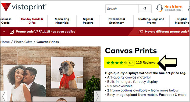canvas prints reviews vistaprint