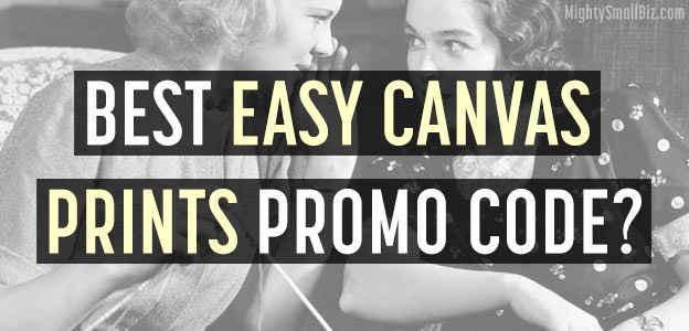 best easy canvas prints promo code