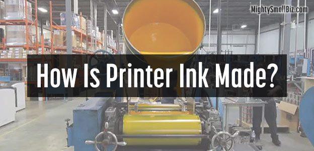 how printer ink made