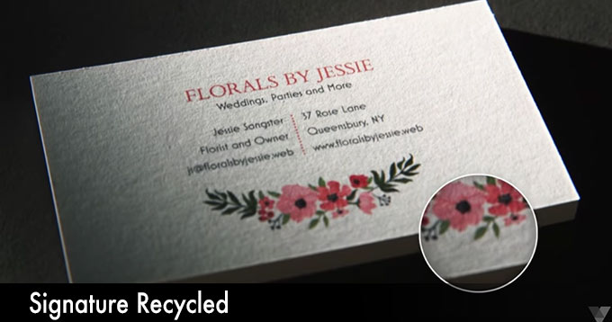 vistaprint business cards signature recycled