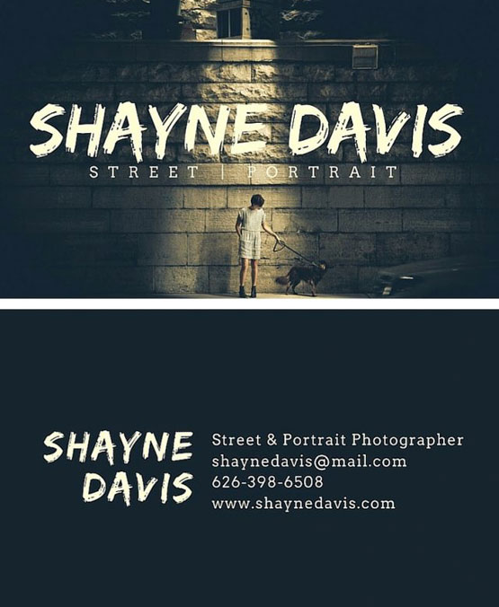 photo business card design idea