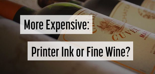 printer ink cost wine