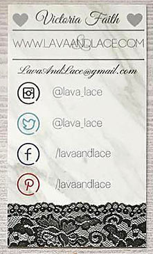 social media info business cards