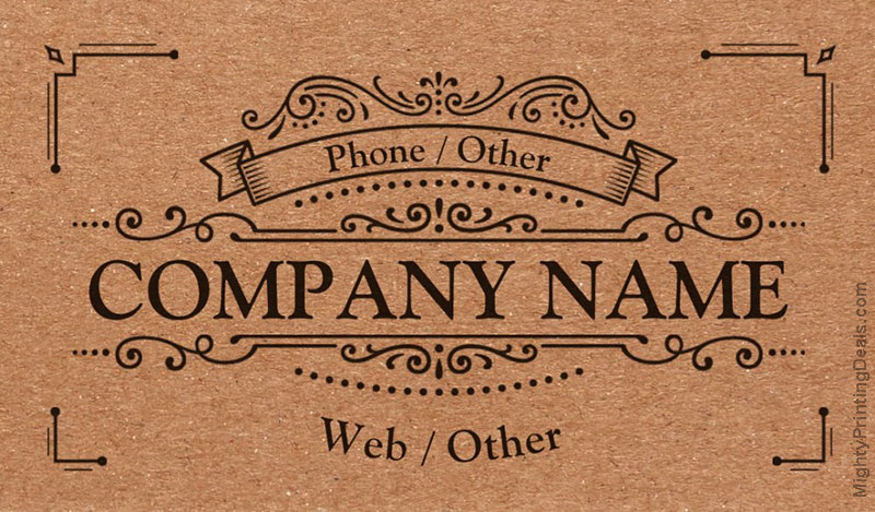 vistaprint business card recycled