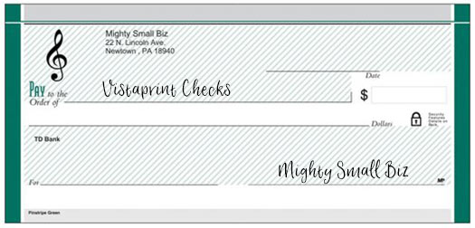 vistaprint checks design monogram