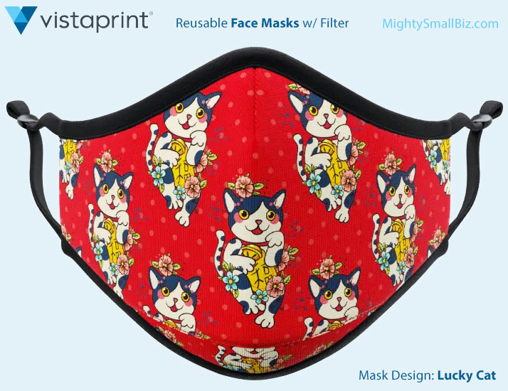 vistaprint face mask cat design