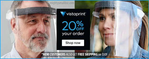 vistaprint face shields coupon