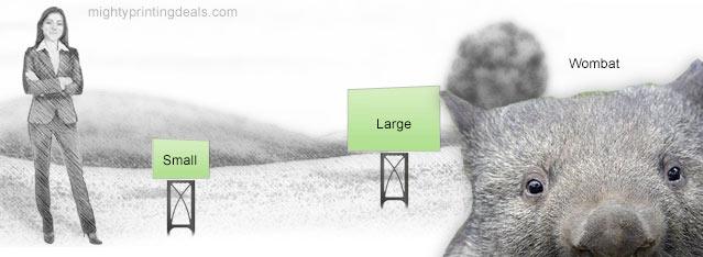 vistaprint lawn sign sizes