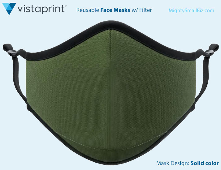 vistaprint mask solid color