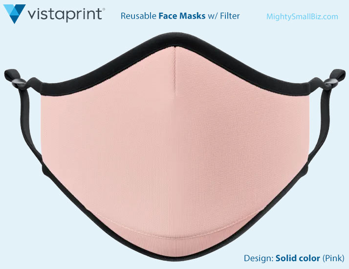 vistaprint mask solid color pink