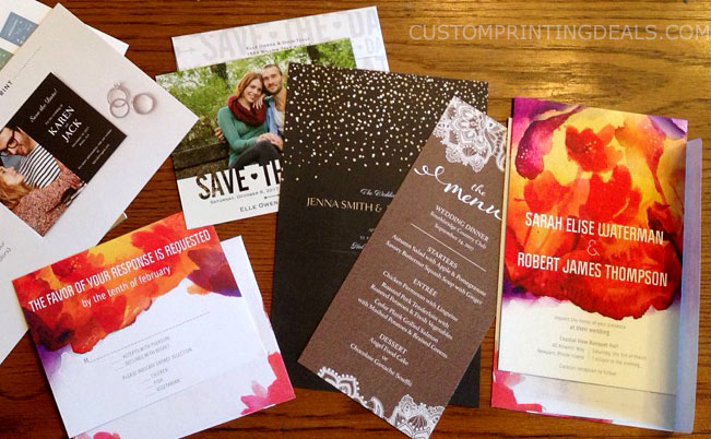 vistaprint wedding free sample invites