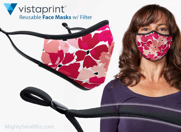 vistaprint face mask floral print