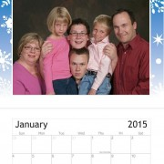 wall calendar template vistaprint