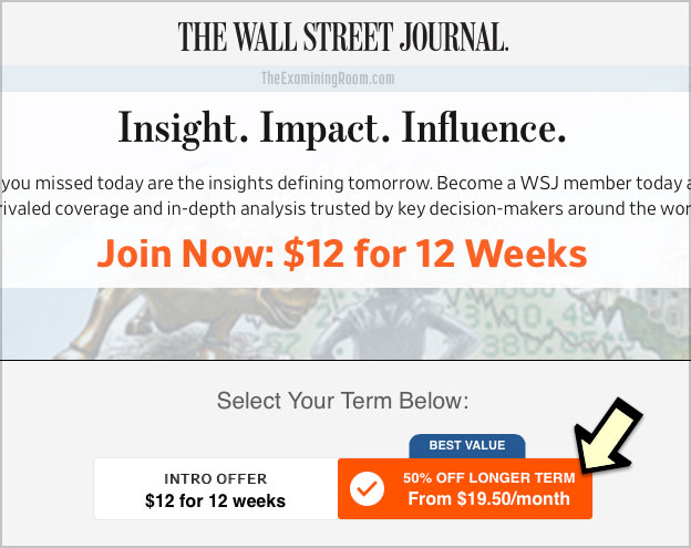 wsj deal 12 weeks
